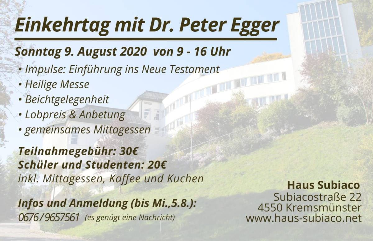 Ein Tag mit der Bibel - Haus Subiaco @ Haus Subiaco | Linz | Oberösterreich | Österreich